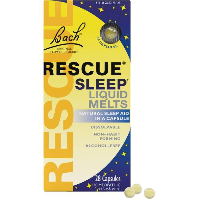 Bach Flower Essences Rescue Sleep Liquid Melts