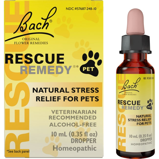 Bach Flower Essences Rescue Remedy Natural Stress Relief for Pets