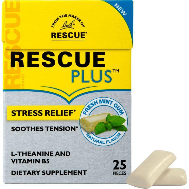 Bach Original Flower Remedies RESCUE PLUS Gum - Fresh Mint