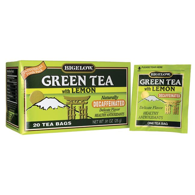 Bigelow Tea Green Tea with Lemon Decaffeinated