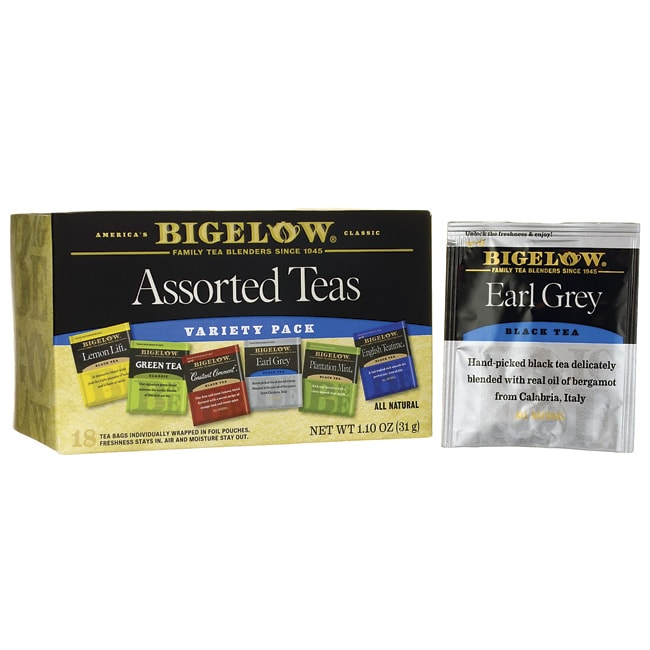 Bigelow TeaSix Assorted Tea Variety Pack
