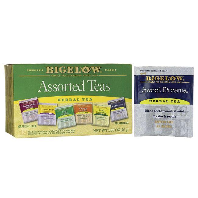 Bigelow Tea Assorted Herb Teas Six Variety Pack - Caffeine Free