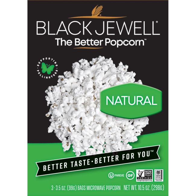 Black JewellNatural Microwave Popcorn