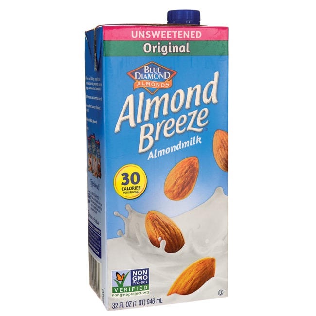 Blue Diamond Almond Milk - Almond Breeze Original Unsweetened