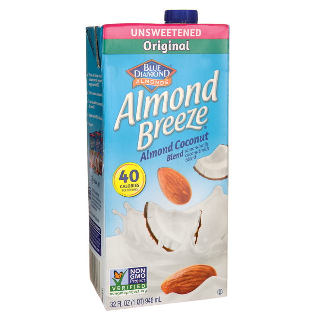 Blue DiamondAlmond Milk - Almond Breeze Coconut Unsweetened