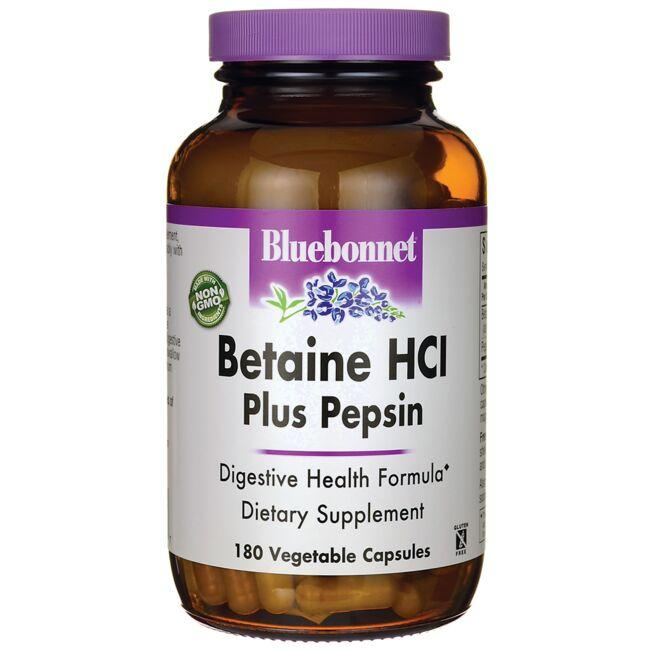 Bluebonnet Nutrition Betaine HCl Plus Pepsin