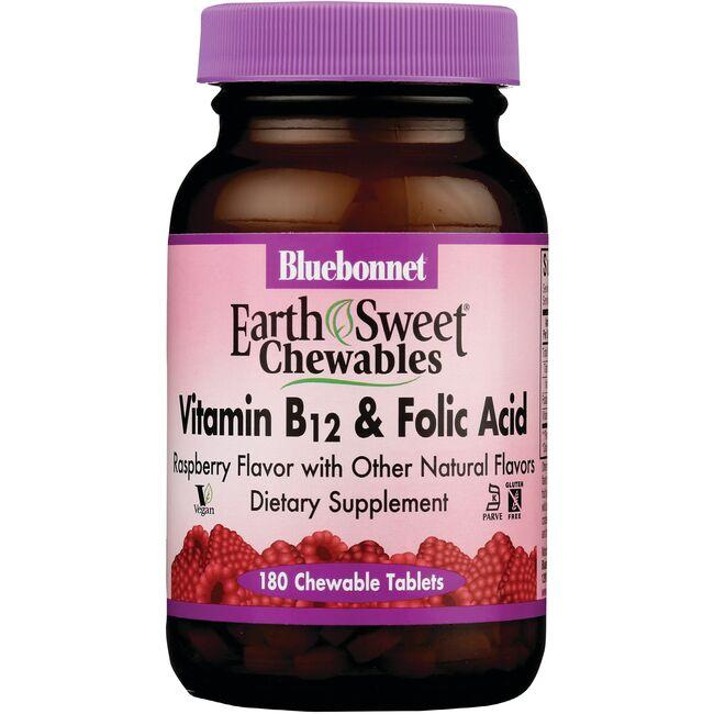 Bluebonnet Nutrition EarthSweet Chewables Vitamin B12 & Folic Acid