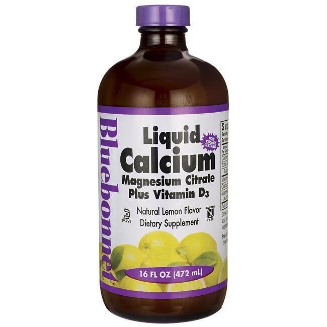 Bluebonnet Nutrition Liquid Calcium Magnesium Citrate Plus Vitamin D3 - Lemo