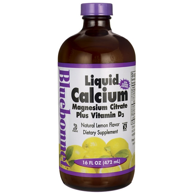 Bluebonnet NutritionLiquid Calcium Magnesium Citrate Plus Vitamin D3 - Lemo