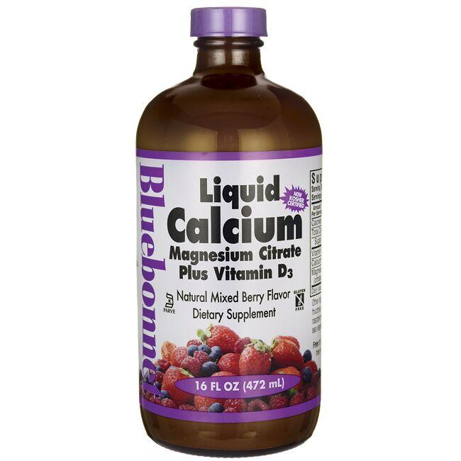 Bluebonnet NutritionLiquid Calcium Magnesium Citrate Plus Vitamin D3 Mixed Berry