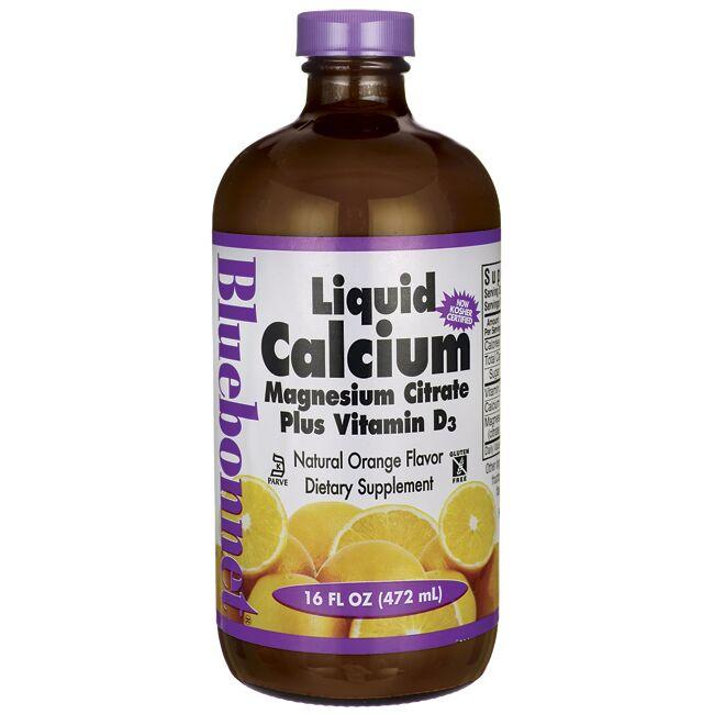 Bluebonnet Nutrition Liquid Calcium Magnesium Citrate Plus Vitamin D3 - Orange