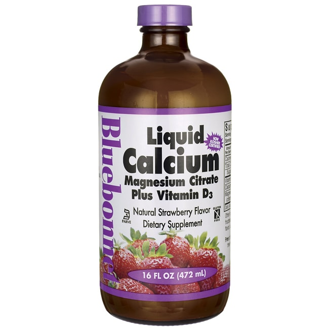 Bluebonnet NutritionLiquid Calcium Magnesium Citrate Plus Vitamin D3 Strawb