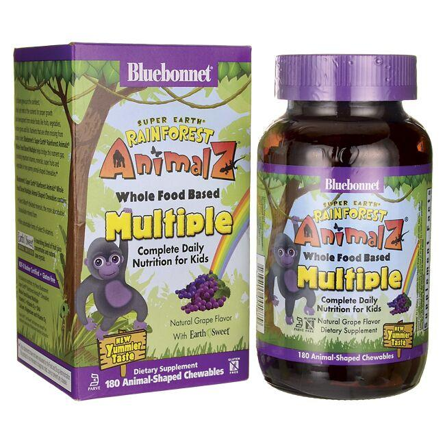 Bluebonnet Nutrition Super Earth Rainforest Animalz WholeFood Based Multiple