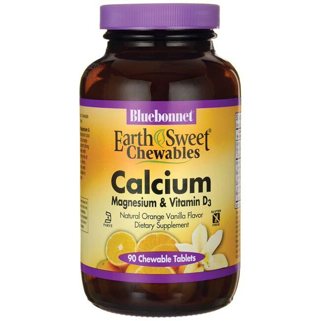 Bluebonnet Nutrition EarthSweet Chewables Calcium Magnesium & Vitamin D3