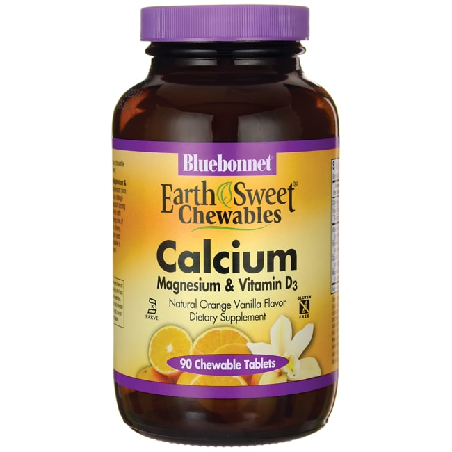 Bluebonnet NutritionEarthSweet Chewables Calcium Magnesium & Vitamin D3