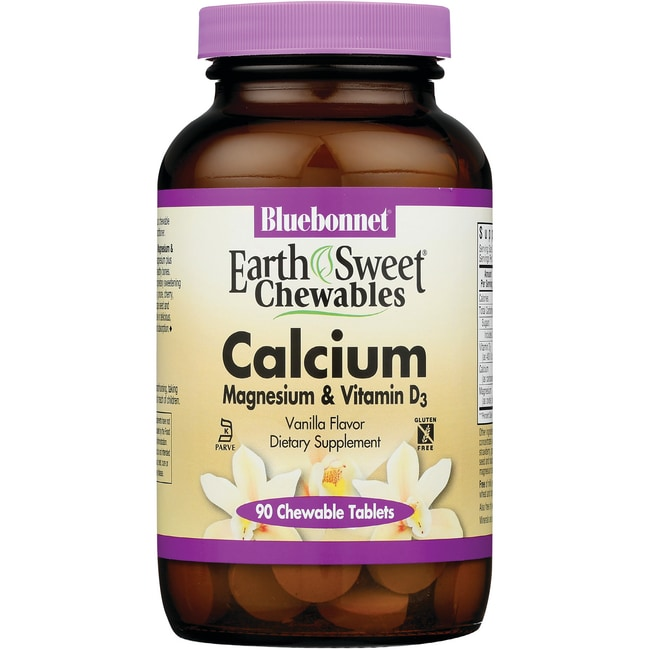 Bluebonnet NutritionEarthSweet Chewables Calcium Magnesium & Vitamin D3 - V