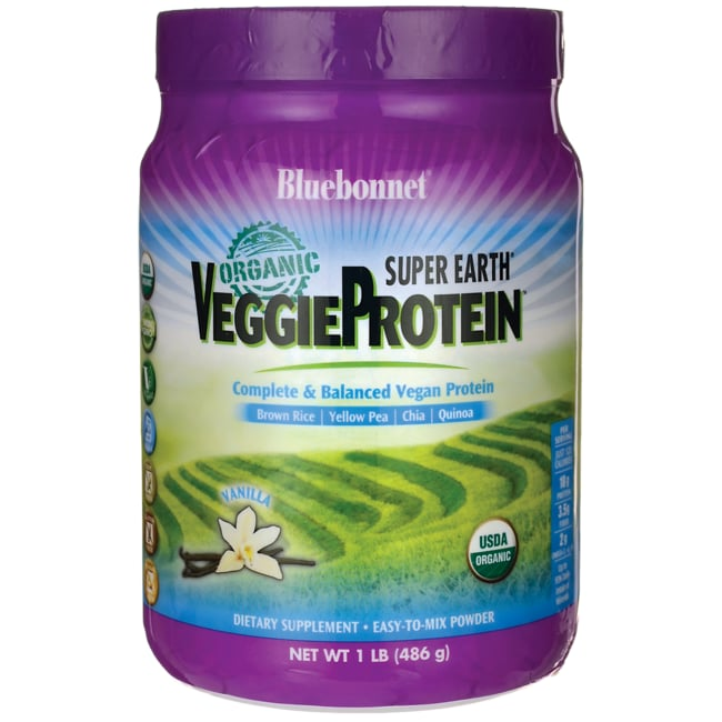 Bluebonnet NutritionSuper Earth Organic VeggieProtein - Vanilla