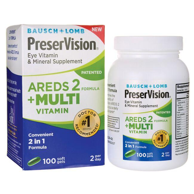Bausch & Lomb Preser Vision Areds 2 + Multivitamin