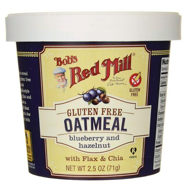Bob's Red Mill Gluten Free Oatmeal Blueberry and Hazelnut