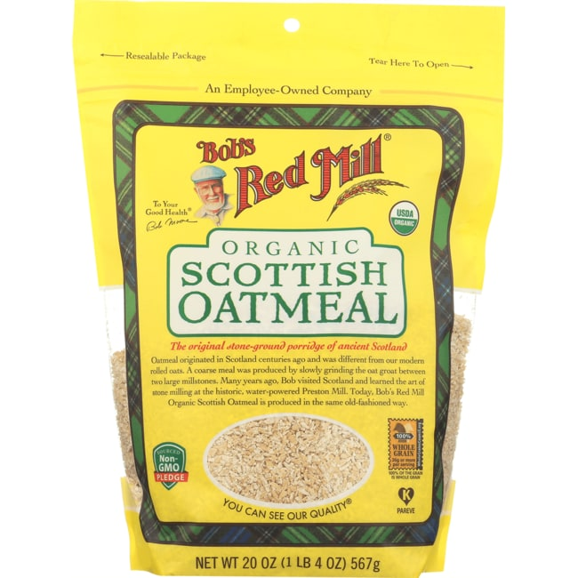 Bob's Red Mill Organic Scottish Oatmeal 20 oz Pkg