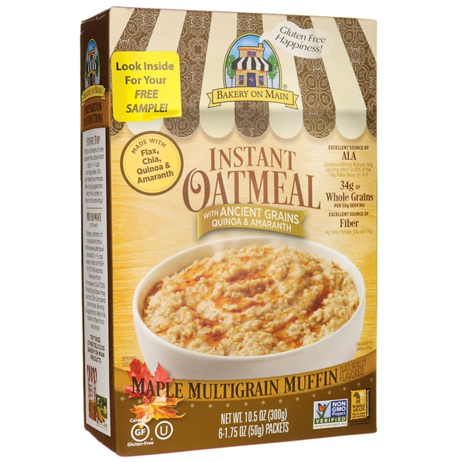 Bakery on Main Maple Multigrain Muffin Instant Oatmeal 6 Pkts ...