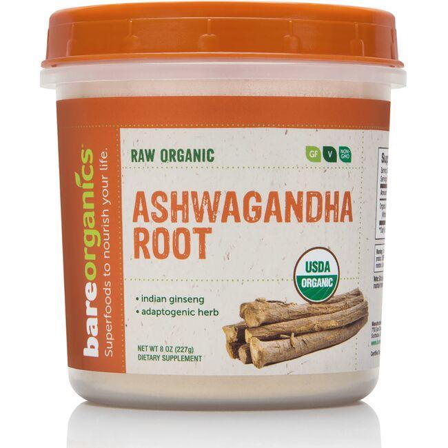 BareOrganicsRaw Organic Ashwagandha Root