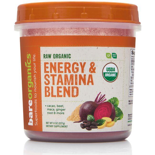 BareOrganicsRaw Organic Energy & Stamina Blend