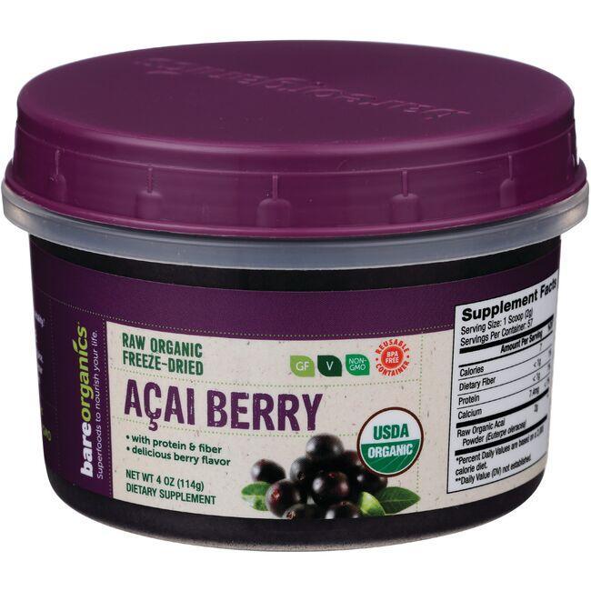 BareOrganicsRaw Organic Freeze-Dried Acai Berry