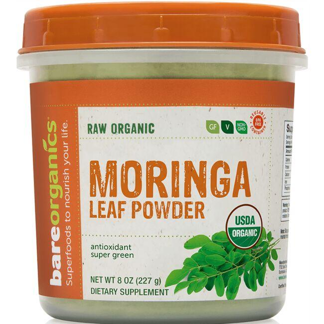 BareOrganicsRaw Organic Moringa Leaf Powder