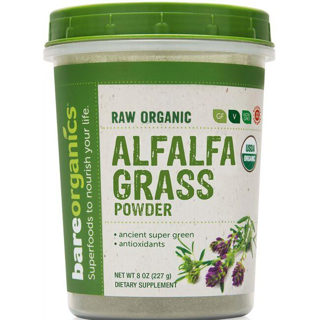 BareOrganicsRaw Organic Alfalfa Grass Powder