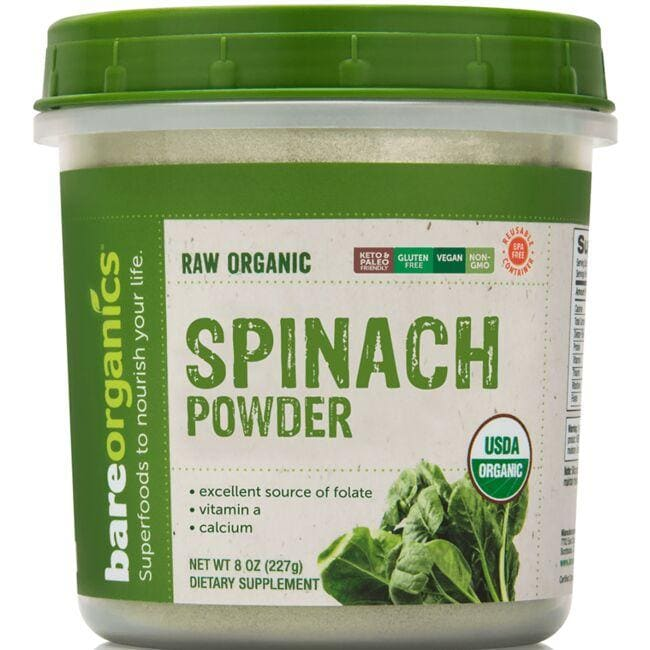 BareOrganics Raw Organic Spinach Powder