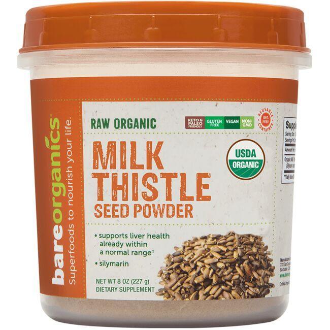 BareOrganicsRaw Organic Milk Thistle Seed Powder