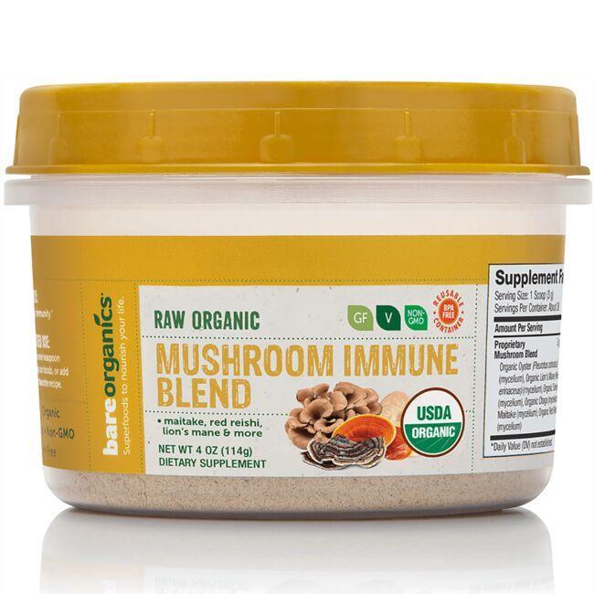 BareOrganicsRaw Organic Mushroom Immune Blend
