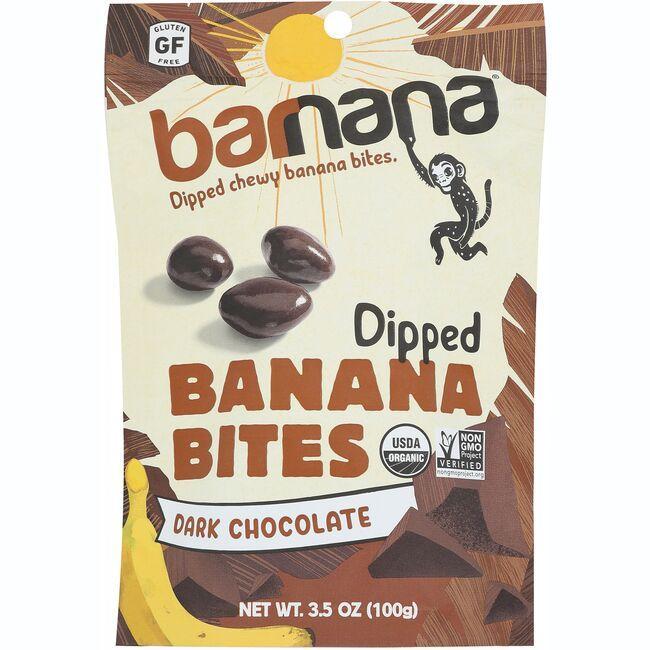 BarnanaOrganic Chewy Banana Bites - Dark Chocolate