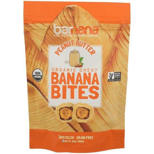 BarnanaOrganic Chewy Banana Bites - Peanut Butter