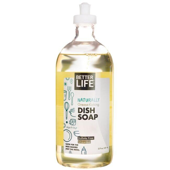 Better Life Naturally Grease-Kicking Dish Soap - Unscented
