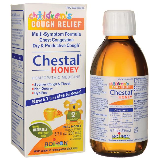 Boiron Children's Cough Relief Chestal Honey Syrup