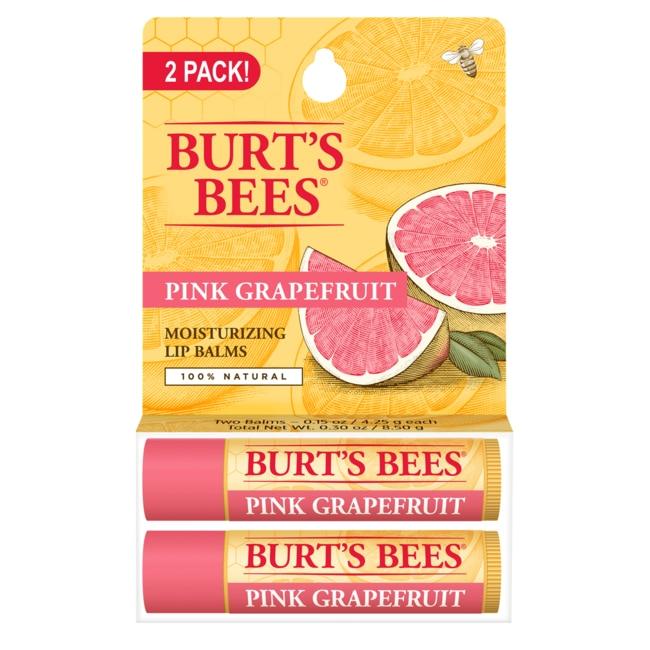 Burt's Bees Lip Balm Refreshing with Pink Grapefruit 2 Pack