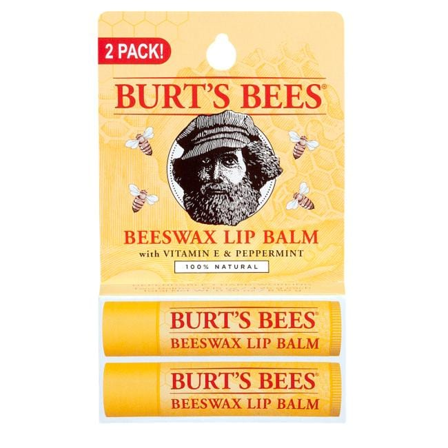Burt's Bees Beeswax Lip Balm with Vitamin E & Peppermint 2 Pack
