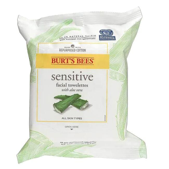 Burt's Bees Facial Cleansing Towelettes with Cotton Extract - Sensitive Skin