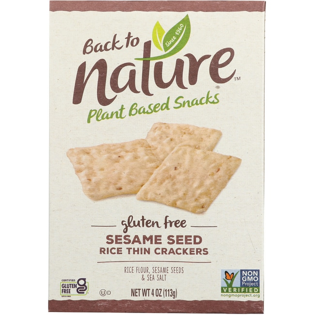Back To NatureSesame Seed Rice Thin Crackers