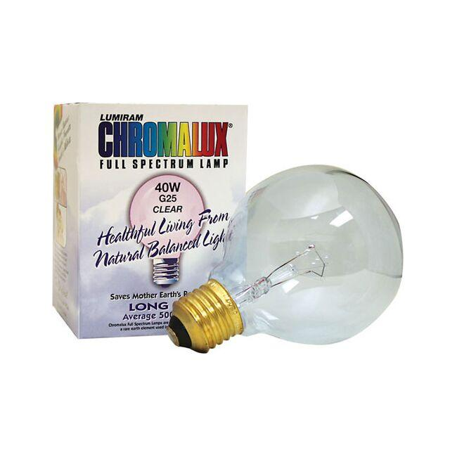 Chromalux Full Spectrum Light Bulb - G25 Clear