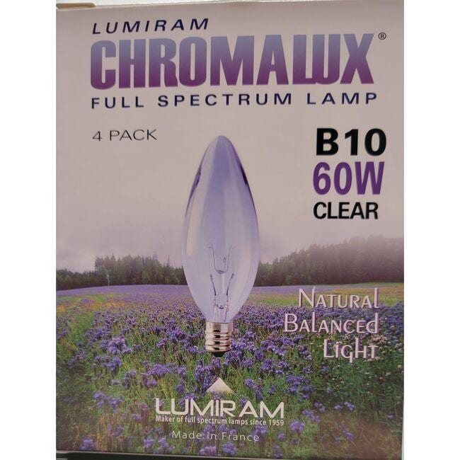 Chromalux Chandelier Bulb - B10 Clear 60W