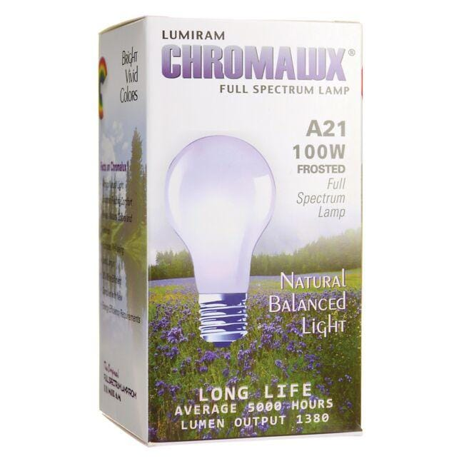 Chromalux Light Bulb - A21 Frosted 100W