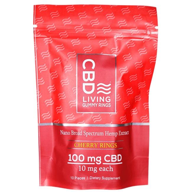 CBD Living CBD Gummy Rings - Cherry