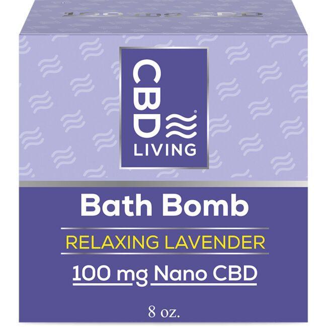 Cbd Living Cbd Bath Bomb Lavender 8 Oz Bars Swanson Health