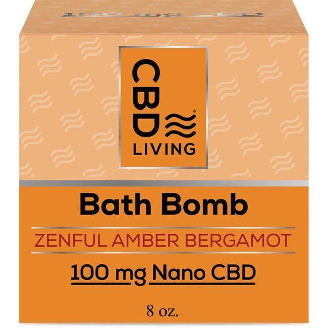 CBD LivingCBD Bath Bomb - Amber Bergamot