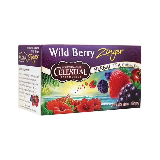 Celestial SeasoningsHerbal Tea Wild Berry Zinger - Caffeine Free