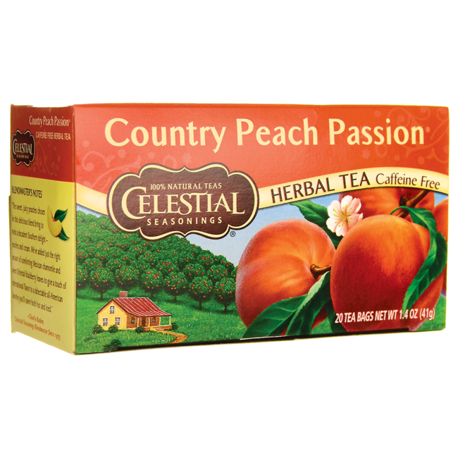 Celestial Seasonings Herbal Tea Country Peach Passion - Caffeine Free