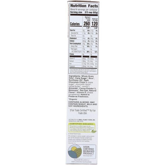 Cascadian FarmGranola Cereal - Dark Chocolate Almond Close Up